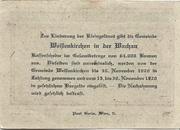 20 Heller (Weissenkirchen) – reverse