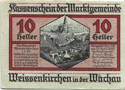 10 Heller (Weissenkirchen) – obverse