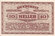10 Heller (Weitenegg) – reverse
