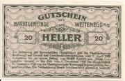 20 Heller (Weitenegg) – reverse