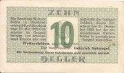 10 Heller (Weitersfelden) – obverse