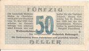50 Heller (Weitersfelden) – obverse