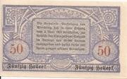 50 Heller (Wendling) -  reverse