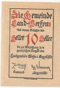 10 Heller (Werfen ) – obverse