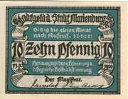 10 Pfennig (Marienburg in Westpreußen) – obverse