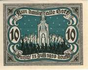 10 Pfennig (Marienburg in Westpreußen) – reverse