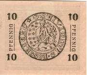 10 Pfennig (Rosenberg in Westpreußen) – reverse