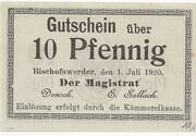 10 Pfennig (Bischofswerder) – obverse