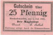 25 Pfennig (Bischofswerder) – obverse