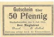 50 Pfennig (Bischofswerder) – obverse