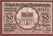 50 Pfennig (Marienburg) – obverse