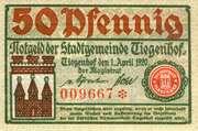 50 Pfennig (Tiegenhof) – obverse