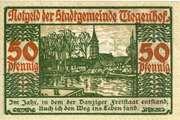 50 Pfennig (Tiegenhof) – reverse