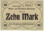 10 Mark (Stadt und Landkreis Graudenz) – reverse