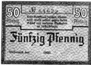 50 Pfennig (Bankhaus Janßen) – obverse