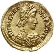 Solidus - Honorius (Ravenna) -  obverse