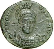 Follis - Honorius (CONCORDIA AVGG; Constantinopolis) -  obverse
