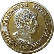 ½ Penny - Aegon V Targaryen – obverse