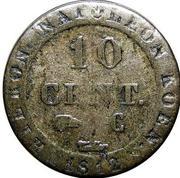 10 Centimes - Jérôme Bonaparte – reverse