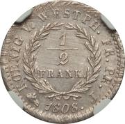 ½ Frank - Jérôme Bonaparte – reverse