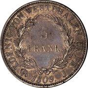 5 Franken - Jérôme Bonaparte – reverse