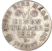 ⅙ Thaler - Jérôme Bonaparte – reverse