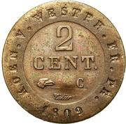 2 Centimes - Jérôme Bonaparte – reverse