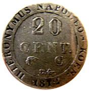 20 Centimes - Jérôme Bonaparte – reverse