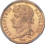 20 Franken - Jérôme Bonaparte (Aluminium bronze pattern) – obverse