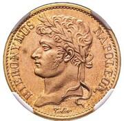20 Franken - Jérôme Bonaparte (Copper pattern) – obverse