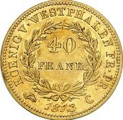 40 Franken - Jérôme Bonaparte – reverse
