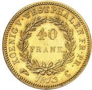 40 Franken - Jérôme Bonaparte (Restrike) – reverse