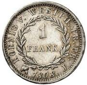 1 Frank - Jérôme Bonaparte – reverse
