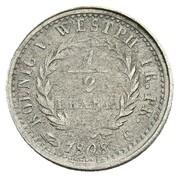 ½ Frank - Jérôme Bonaparte (Nickel pattern) – reverse