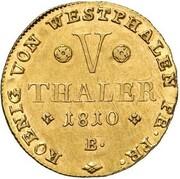 5 Thaler - Jérôme Bonaparte – reverse