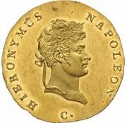 ⅔ Thaler - Jérôme Bonaparte (Clausthal Ausbeute; Gold Pattern) – obverse