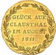 ⅔ Thaler - Jérôme Bonaparte (Clausthal Ausbeute; Gold Pattern) – reverse