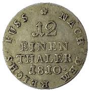 1/12 Thaler - Jérôme Bonaparte – reverse