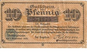 10 Pfennig (Recklinghausen) – obverse