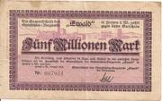 5,000,000 Mark (Herten; Gewerkschaft des Steinkohlen-Bergwerks Ewald) – obverse