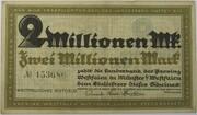 2,000,000 Mark (Landesbank der Provinz Westfalen) – obverse