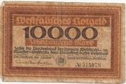 10,000 Mark (Landesbank der Provinz Westfalen) – obverse