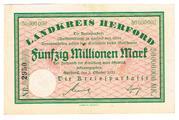 50,000,000 Mark (Landkreis Herford; Kreissparkasse) – obverse