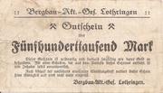 500,000 Mark (Gerthe; Bergbau-Aktien-Gesellschaft Lothringen) – reverse