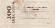100,000,000 Mark (Districts of Hörde) – reverse