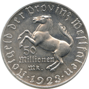 50 Million Mark - Westfalen (Freiherr vom Stein) – obverse