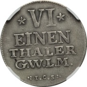 ⅙ Thaler - Friedrich Alexander – reverse