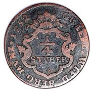 ¼ Stüber - Friedrich Alexander – reverse