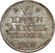 ⅙ Reichsthaler - Friedrich Alexander – reverse