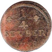 ¼ Stüber - John Louis Adolph – reverse